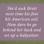 She's sock Brett