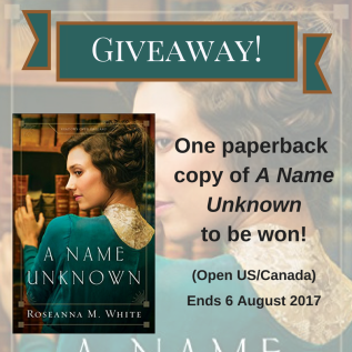 A Name Unknown Giveaway