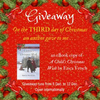 Christmas Giveaway Erica Vetsch international